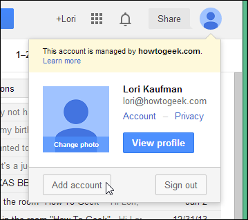 open my gmail account