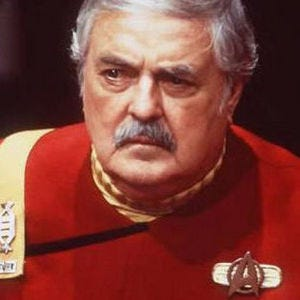James Doohan on the set of Star Trek