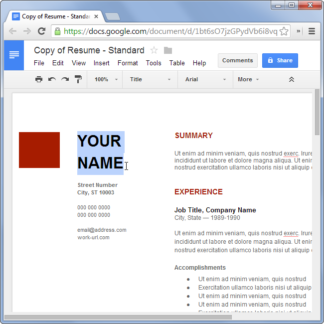 How To Make A Resume For Free Without Using Microsoft Office