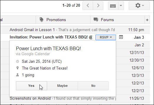 Gmail Guide Invitations And Vacation Responders