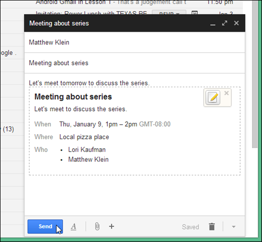 Gmail Guide Invitations and Vacation Responders – Invitation Format for an Event