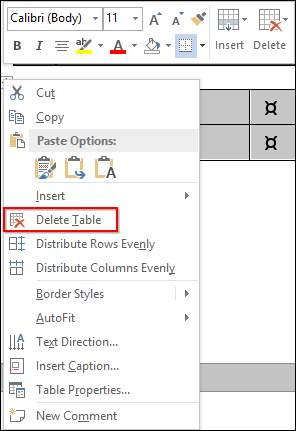 Word Formatting: Tables and Other Formatting Controls