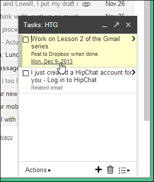 how to use gmail tasks list