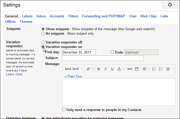 Gmail Guide: Invitations and Vacation Responders