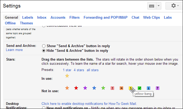 Gmail Guide: Mail Filters and the Star System