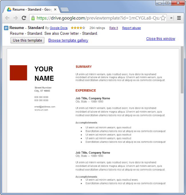 How to make an online resume