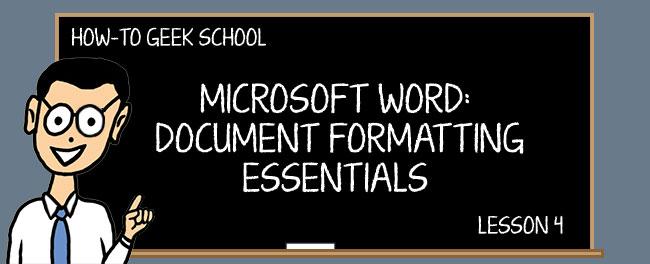 Word Formatting 4