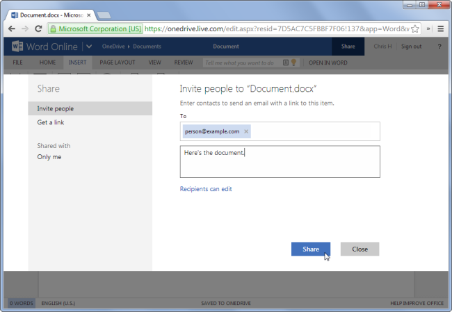 share-document-with-email-address-in-office-online