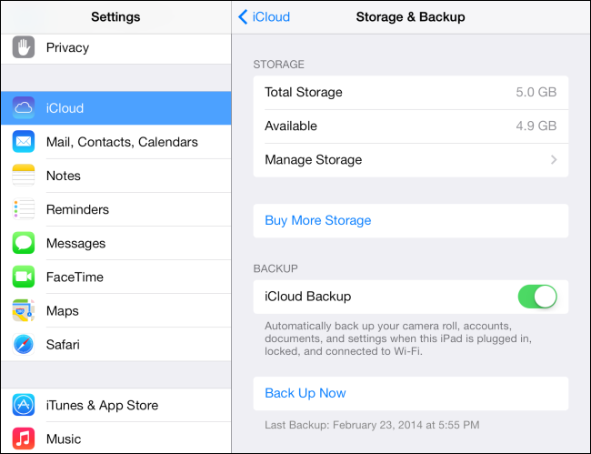 How to run backup on iphone