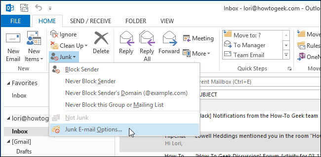 01_selecting_junk_email_options