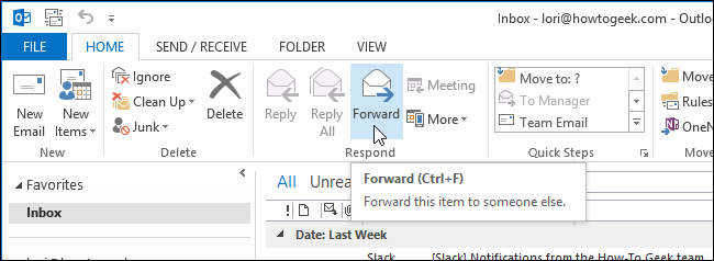How to Forward Multiple Email Messages to a Single Recipient in