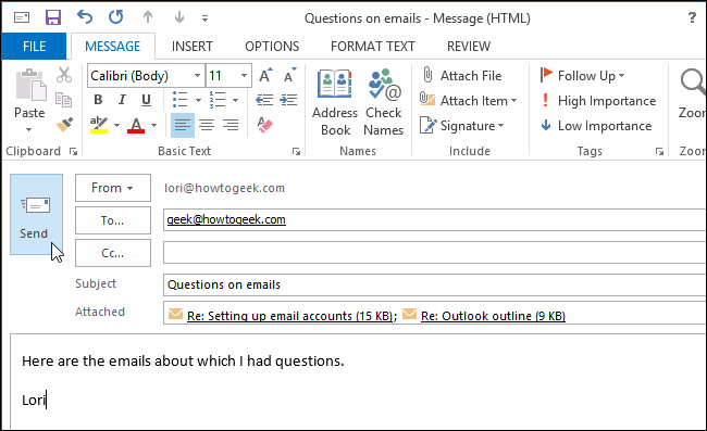 How to Forward Multiple Email Messages to a Single Recipient