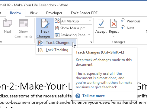 how to permanently turn off markup in word