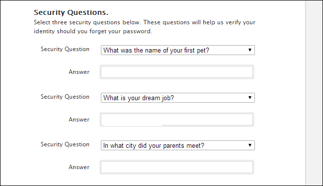 forgot yahoo security questions