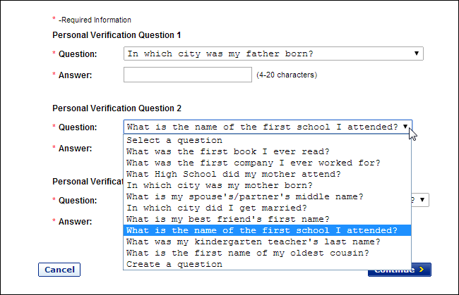 forgot answer to security question yahoo