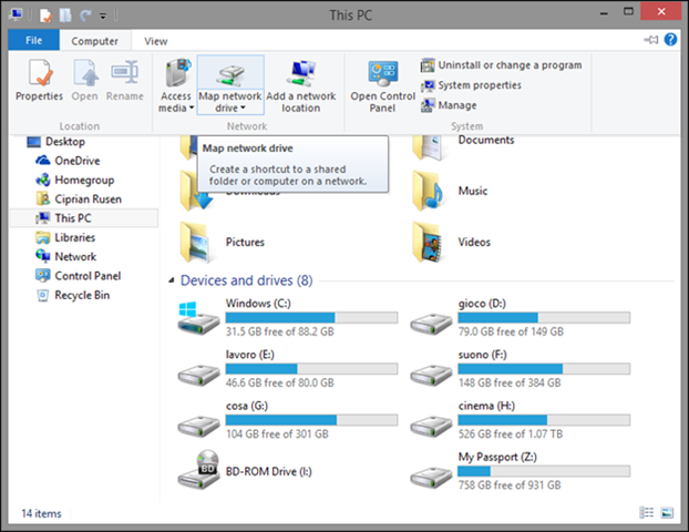 How To Map A Network Drive Windows 8 Windows Networking: How to Work With Network Drives & Network  How To Map A Network Drive Windows 8