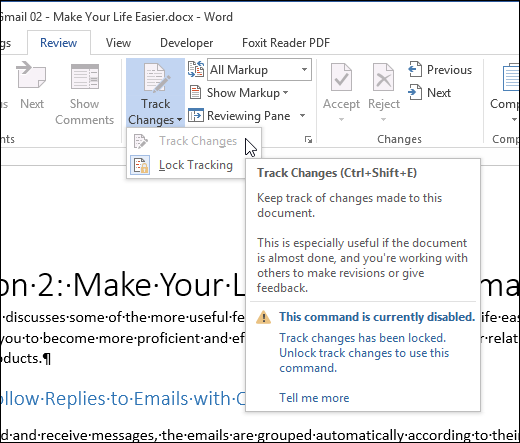 how to send track changes in word