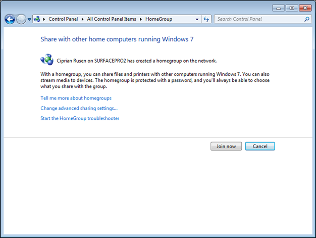 Windows Networking: Sharing With the Homegroup