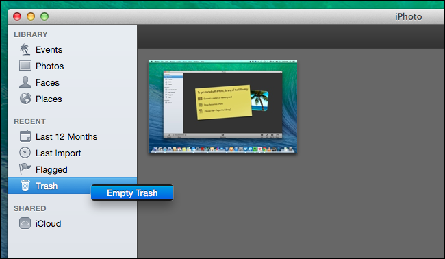 empty-delete-photos-from-iphoto-trash