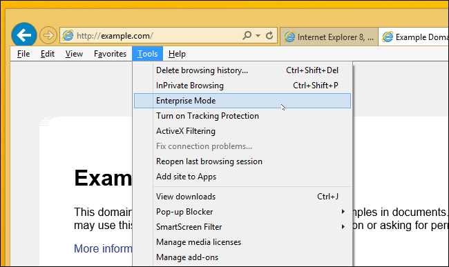 how to put ie in compatibility mode