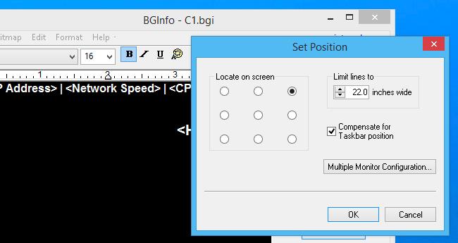 bginfo registry change to login
