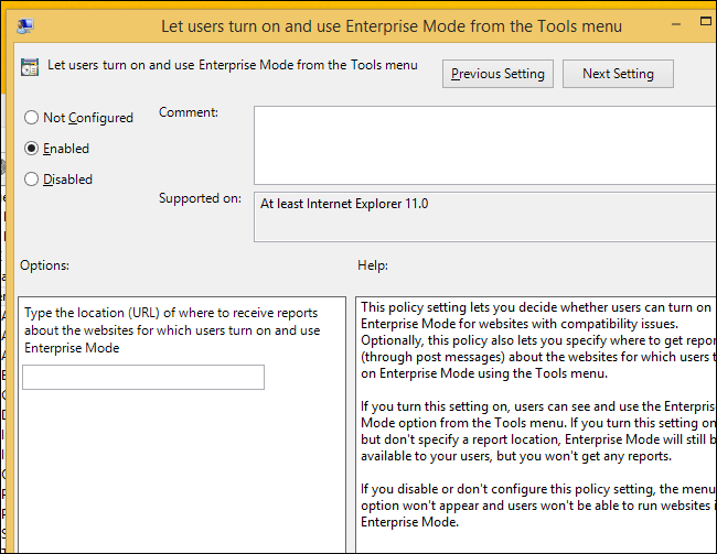 How to Enable and Use Internet Explorer 11's Enterprise Mode