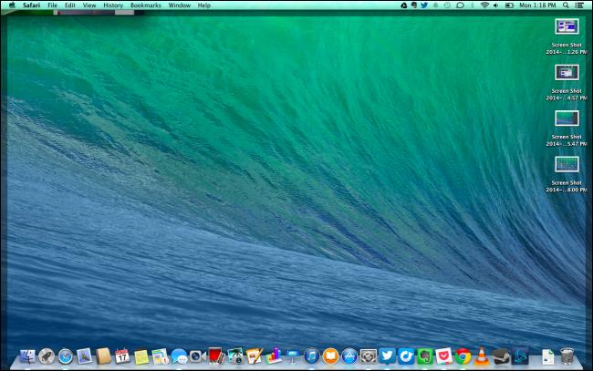 Mac Show Desktop Gesture
