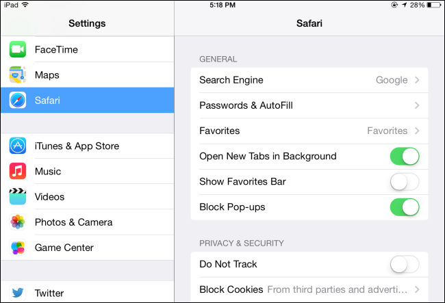 how to use private browsing on ipad