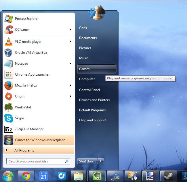 start-menu-games-folder