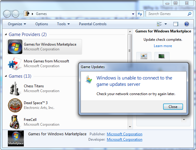 microsoft corporation games windows 7 free