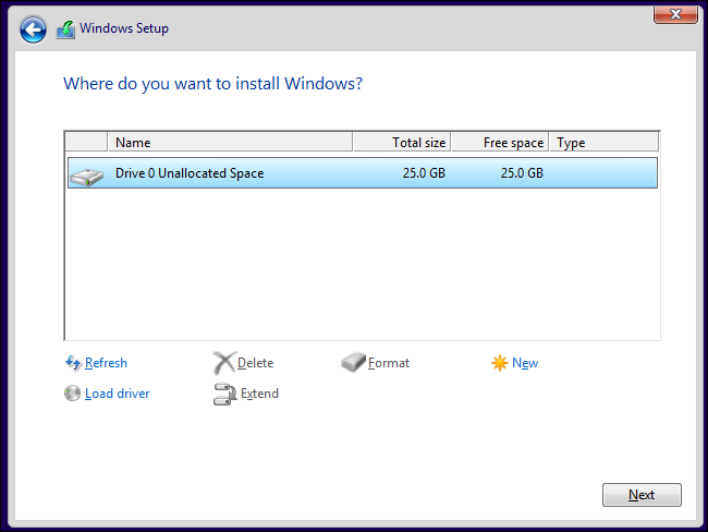 windows-8.1-installer-partitioning-unallocated-space