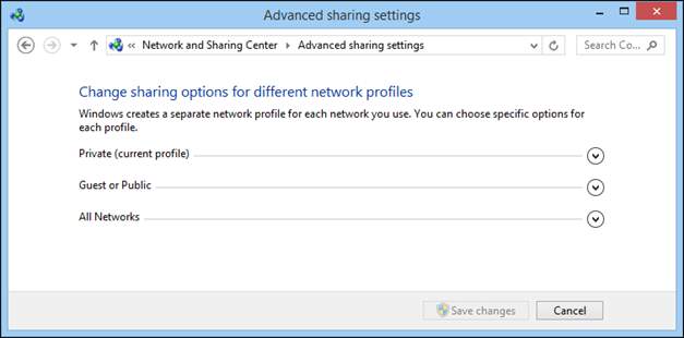 how to set password for network sharing