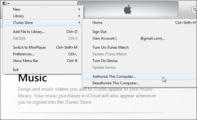 Itunes unregister computer