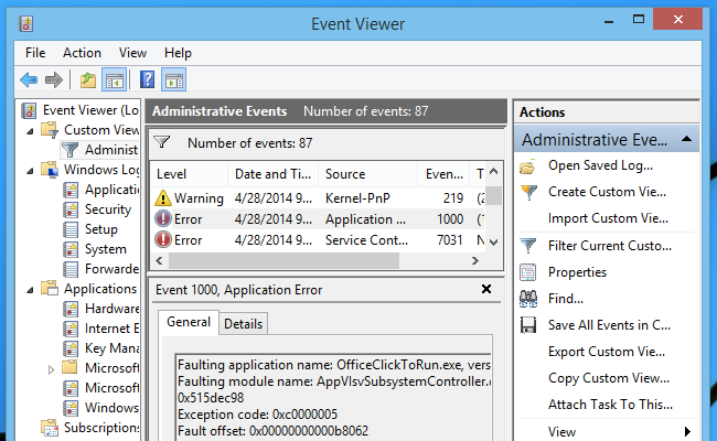 clear event viewer logs server 2012