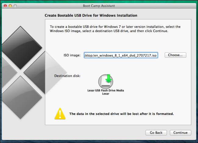 install windows 8 on mac using usb