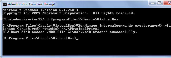 create-raw-vmdk-to-boot-from-usb-in-virtualbox