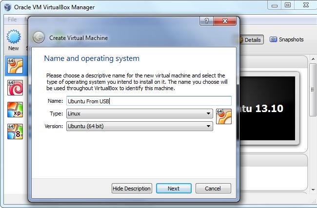 Virtualbox Use Physical Disk