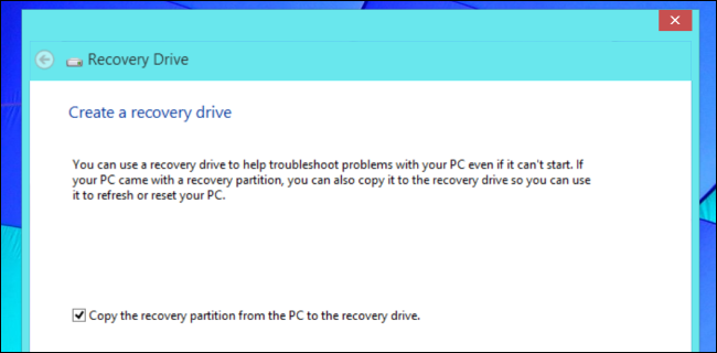 delete recovery partition windows 8.1 tablet