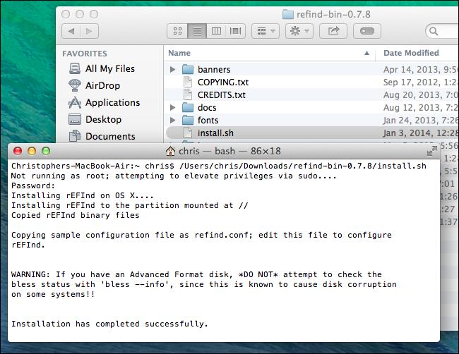 install-rEFInd-on-mac
