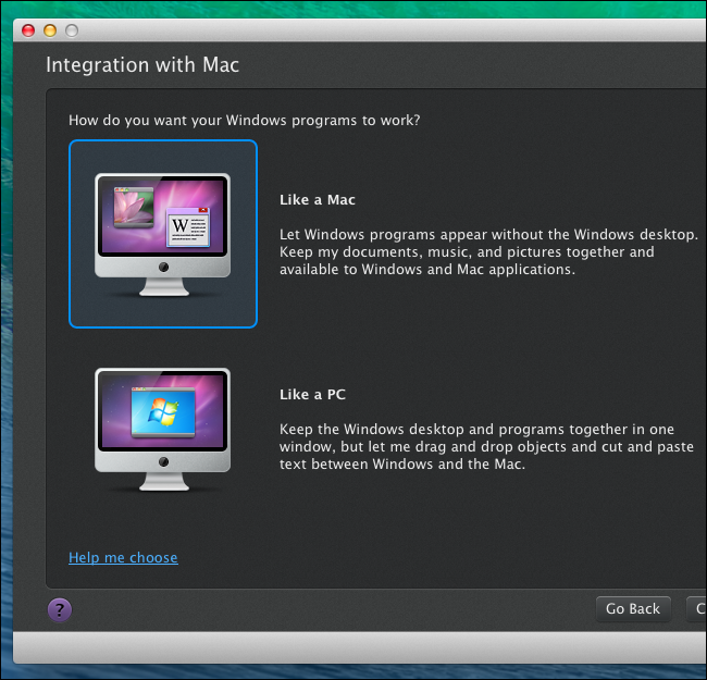 machine windows on mac