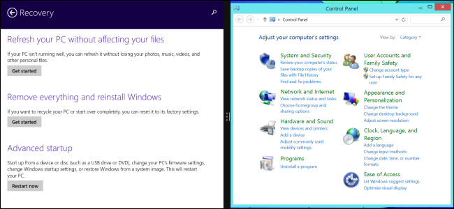 7 windows desktop settings only available in pc settings on windows 8 1