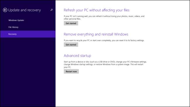 change pc settings windows 8.1 not working