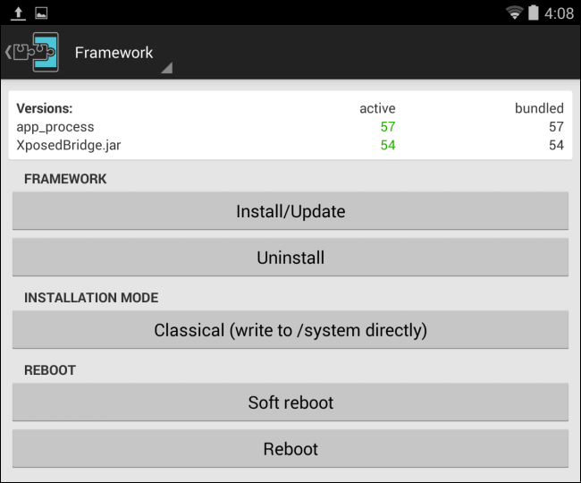 install-xposed-framework-with-root-on-android