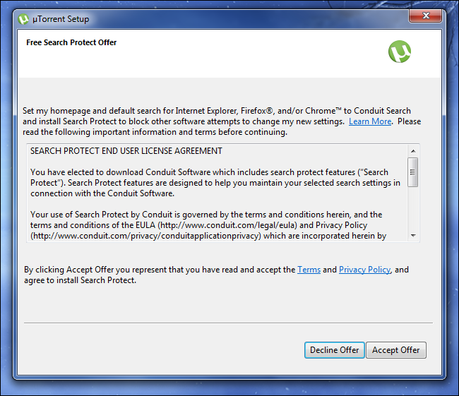 utorrent-conduit-search-protect-junk