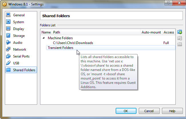 virtualbox-network-share-mount-commands