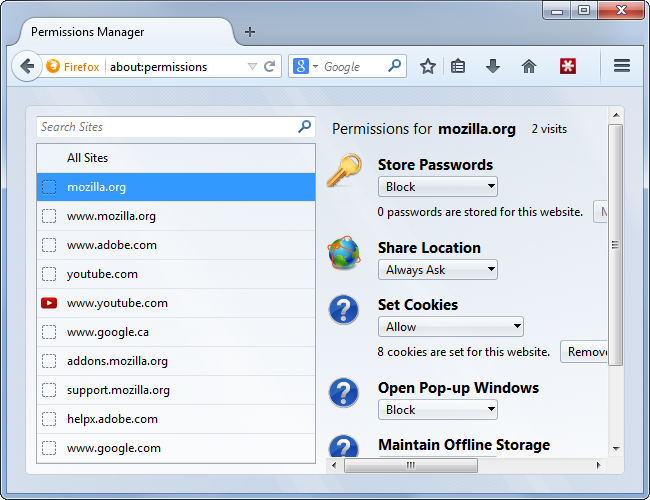 how-to-access-firefox-permissions-manager