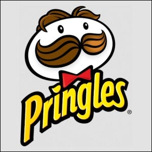 Example of the Pringles logo with the iconic mascot