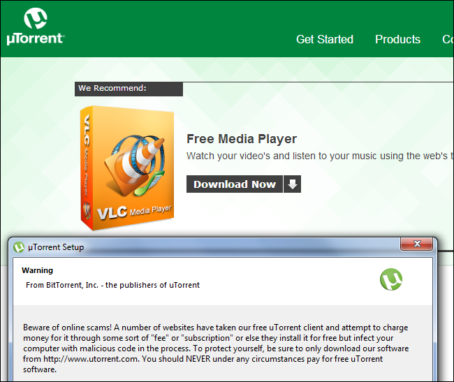 utorrent-fake-vlc-ad