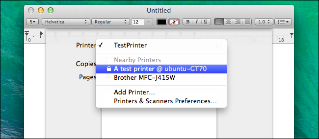 how to add printer from network to mac