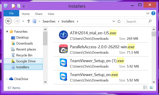 access-saved-search-on-windows-8.1